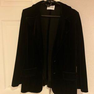 VINTAGE butte knit blazer velvet